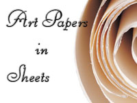 Art papers in sheets