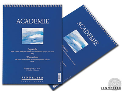 ACADEMIE watercolour pads-spiral